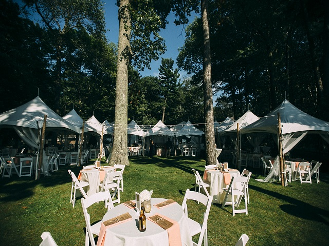 4 White Frame Tents