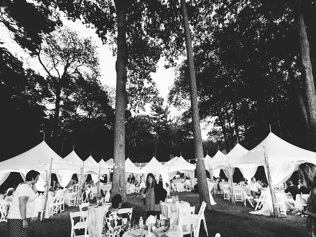 5 White Frame Tents