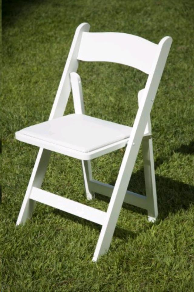 Where to find CHAIR WHITE RESIN GARDEN W PAD in Grand Haven