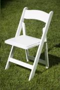 Rental store for CHAIR WHITE RESIN GARDEN W PAD in Grand Haven MI