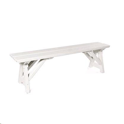 Where to find BENCH WOODEN WHITE 8 in Grand Haven