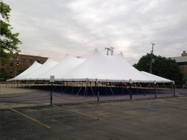 Where to find 60  WIDE ROPE   POLE TENT in Grand Haven