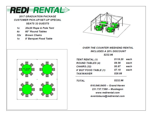 Where to find 20X20 R P W RD TENT PKG in Grand Haven